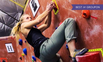 Rock Climbing for One, Three, or Five, or Climbing Class for One or Four at SteepWorld (Up to 53% Off)
