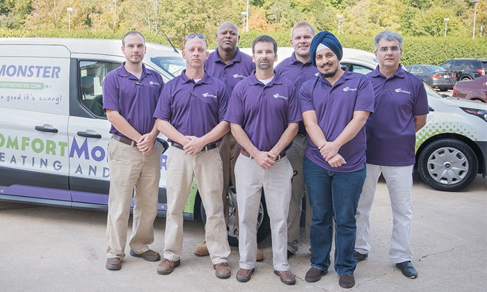 Comfort Monster - Raleigh / Durham: HVAC Cleaning and Tune-Up from Comfort Monster (56% Off)