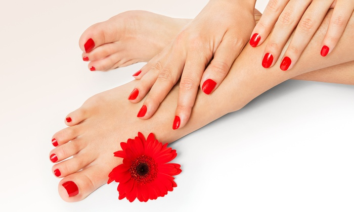 The Beauty Lounge (IN) - Carmel: One or Two Shellac Manicures with Paraffin-Treatment Pedicures at The Beauty Lounge (Up to 54% Off)