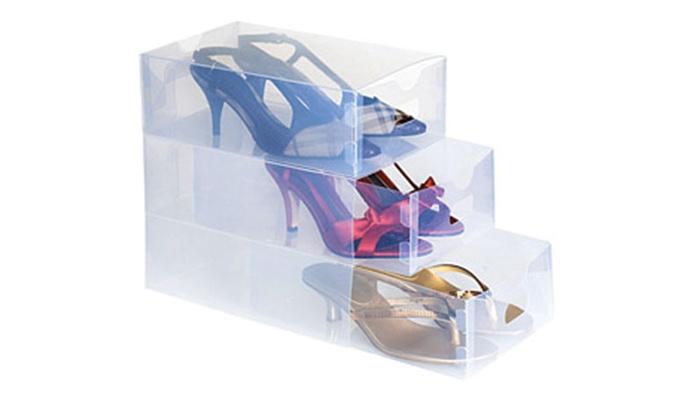 5 cajas de zapatos itransparentes groupon goods - Cajas transparentes para zapatos ...
