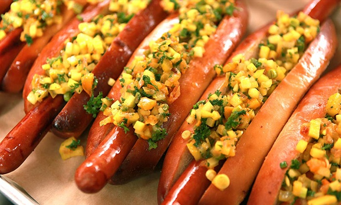 Quite Frankly - Withamsville: Two or Four Vouchers Valid for $10 Worth of Gourmet Hot Dogs and Drinks at Quite Frankly (Up to 40% Off)