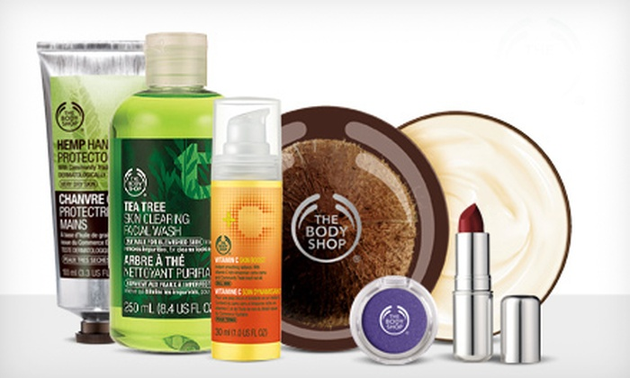 The Body Shop - Los Angeles: $10 for $20 Worth of Natural Skincare, Makeup, Hair, and Body Products at The Body Shop