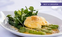 Three-Course Dinner and Champagne for One, Two or Four at Riverside Brasserie (Up to 53% Off)