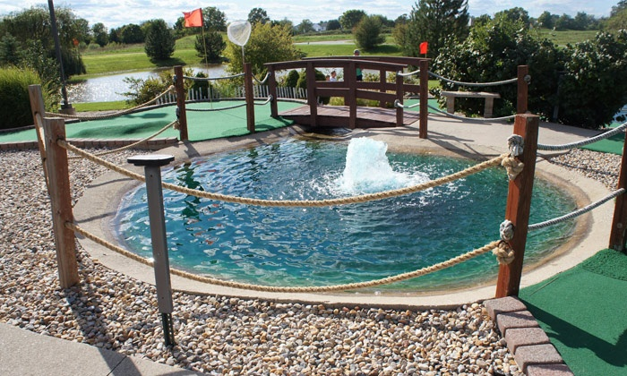 Ben and Ari's - Fishers: $20 for Mini Golf, Arcade Games, and Pizza at Ben and Ari's (Up to $45.95 Value)