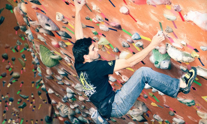 Rocknasium - Rocknasium: Rock-Climbing Day Pass with Intro Class, or One-Month Family Membership at Rocknasium in Davis (Up to 51% Off)