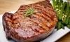 Le Lodge - Merville Franceville Plage: Côte de bœuf et dessert pour 2 personnes dès 29 € au restaurant le Lodge