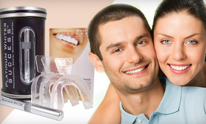 Platinum Whites: One or Two Home Teeth-Whitening Kits from Platinum Whites (Up to 85% Off)
