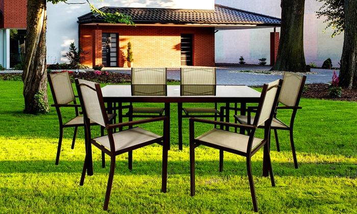 Groupon Mobili Da Giardino.Tavolo E 6 Sedie Da Giardino Vari Modelli Disponibili