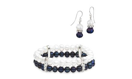 Brincos, pulseira ou conjunto de brincos e pulseira de pérolas Pica Collection desde 9,99€