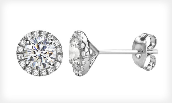 Created White Sapphire Martini Earrings: $29 for Created White Sapphire Halo Martini Stud Earrings ($99 List Price). Free Shipping.