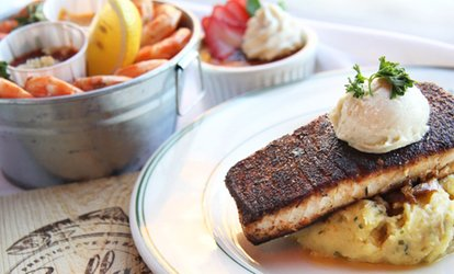 image for <strong>Seafood</strong> Lunch for Two with Appetizer and Drinks at Stella's Fish Cafe (Up to $95 Value)