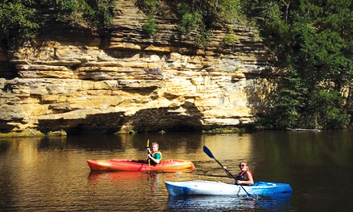 Dells Watersports - Multiple Locations: Half-Day Single-Kayak, Double-Kayak, Paddleboat, or Canoe Rental at Dells Watersports (Up to 52% Off)