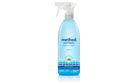 Method Spearmint-Scented Antibacterial Bathroom Cleaner; 8-Pack of 28 fl. oz. Bottles + 5% Back in Groupon Bucks