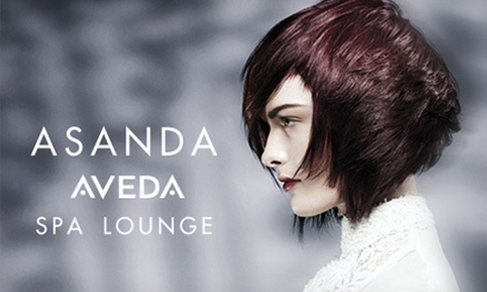 Asanda Aveda Spa Lounge - SoHo: Aveda Haircare Package at Asanda Aveda Spa Lounge (Up to 62% Off). Three Options Available.