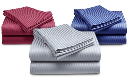Microfiber Pazatex Embossed Stripe Sheet Set from $37.99–$39.99