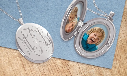 Monogrammed Circle or Oval Locket from Monogram Online (Up to 68% Off). Two Options Available.