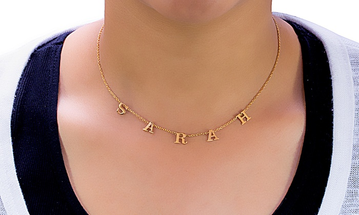 68512c7fe Up to 87% Off Custom Letter Name Necklace from MonogramHub
