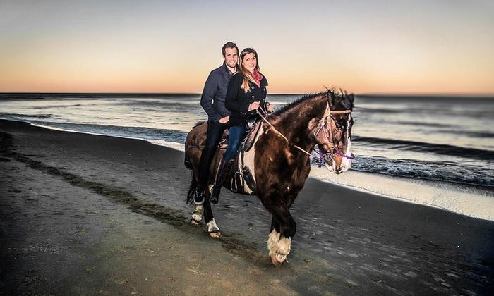 Virginia Beach Horseback - Virginia Beach: $109 for a Beach Horseback Ride for Two from Virginia Beach Horseback ($150 Value)