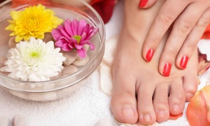 Simplicity Salon: Gel Manicure or Spa Pedicure with Hand Treatment at Simplicity Salon (Up to 51% Off)