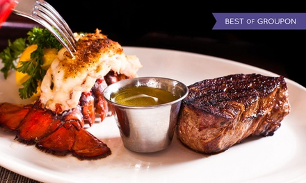 Dinner for Two at The Yellow Rose Steak & Chop House (Up to 50% Off). Two Options Available.
