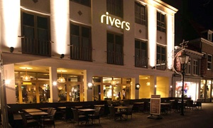 Rivers: Driegangen keuzemenu voor 2, 3 of 4 personen bij Rivers, gelegen aan de Kaai in Sluis (vanaf € 34,99)