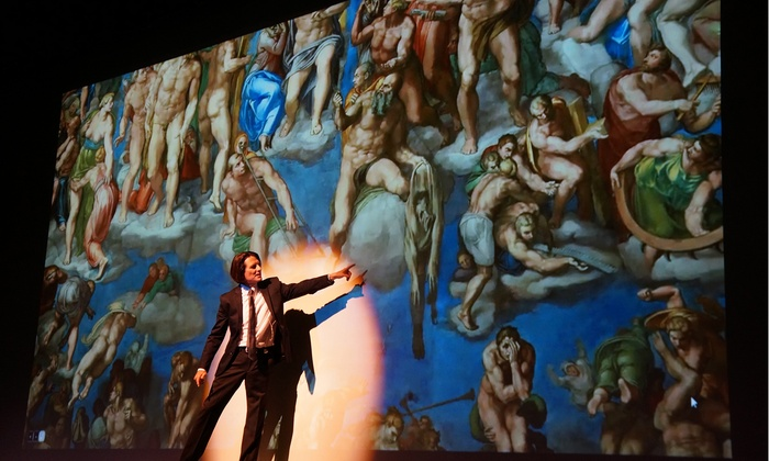 """DaVinci & Michelangelo: Titans Side by Side - Glitter Dome Event Center: """"DaVinci & Michelangelo – The Titans Experience"""" Museum Theatre on January 15–17"""