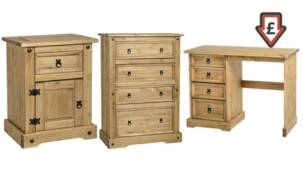 Vida designs corona solid pine bedroom furniture for for Furniture deals bedroom sets
