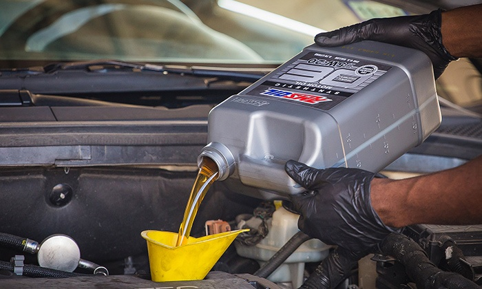 The Oil Exchange - Multiple Locations: Synthetic Blend,Pennzoil Gold Conventional or Amsoil OE Synthetic Oil Change at The Oil Exchange (Up to 53% Off)
