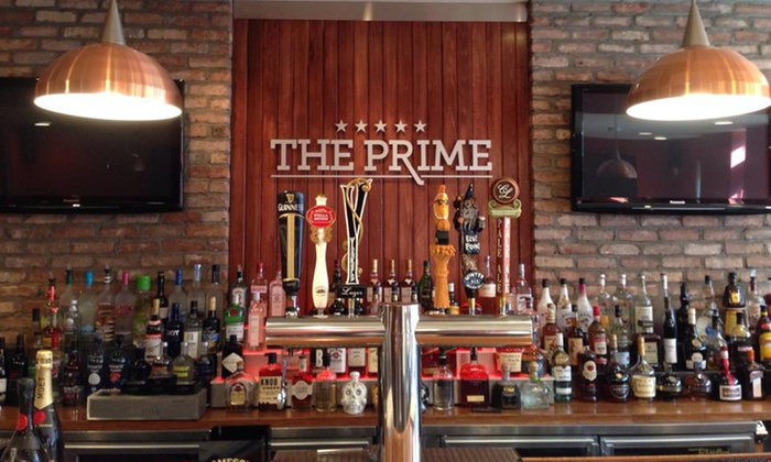 The Prime, An American Grille - Hastings-on-Hudson: Burgers, Salads, and Draft Beers, Wine, or Sodas for Two or Four at The Prime, An American Grille (41% Off)