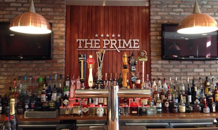 Burgers, Salads, and Draft Beers or Sodas for Two or Four at The Prime, An American Grille (41% Off)