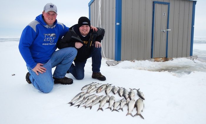 Trophy Ice Fish - Trophy Ice Fish Headquarters: Ice-Fishing Trip or Ice-House Rental at Trophy Ice Fish (Up to 73% Off). Four Options Available.