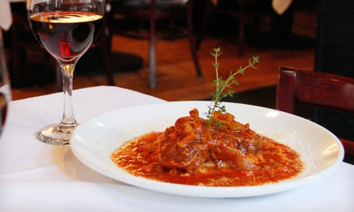 Sapori Trattoria - Lincoln Park: $47 for Four-Course, Zagat-Rated Italian Dinner for Two at Sapori Trattoria (Up to $98.95 Value). Three Times Available.