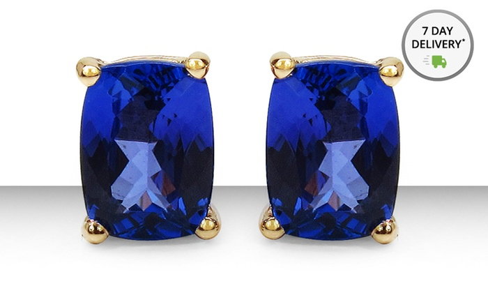 2.7 Carat Genuine Tanzanite Earrings in 10K Yellow Gold: 2.7 Carat Genuine Tanzanite Earrings in 10K Yellow Gold. Free Shipping and Returns.