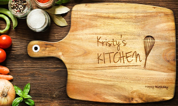 Personalised Acacia Wooden Chopping Board: Small ($25), Medium ($35) or Large ($45) (Dont Pay up to $189.95)