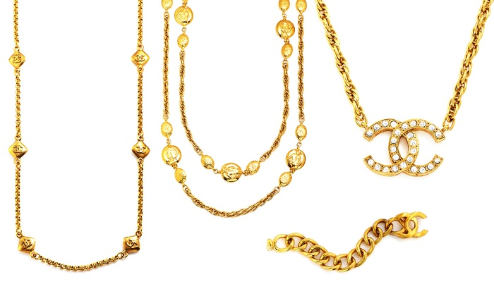 Vintage Chanel Jewelry: Vintage Chanel Necklaces or Bracelets from $1,299.99–$1,449.99 | Brought to You by ideel