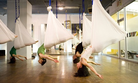 Three Fundamental Anti-Gravity Yoga Classes or One Private Class for Up to 11 at The Hang Out (Half Off)