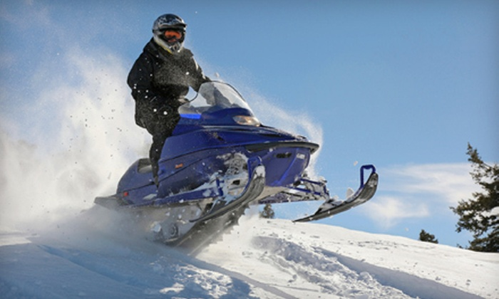 Jay Snowmobile Adventures - Jay: $69 for a 90-Minute Snowmobile-Excursion Tour for One Rider from Jay Snowmobile Adventures ($139 Value)