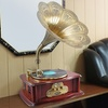 Retro Bluetooth Turntable and Phonograph Speaker with MP3 Recording