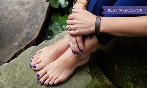 .blu: Mani-Pedi for One or Two at .blu (Up to 52% Off)