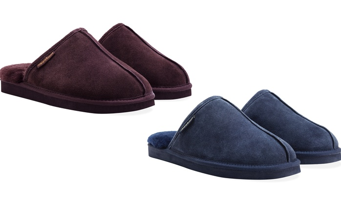 Men's Suede Sheepskin Slippers for £24.98 With Free Delivery (79% Off)