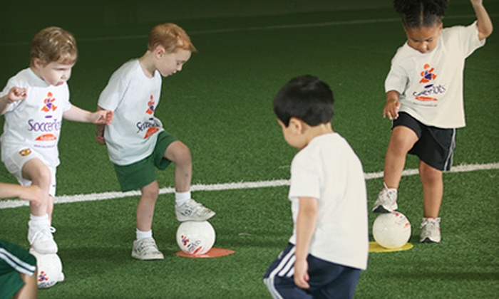 SoccerTots - Greensboro: Four-Day or Four-Week Children's Soccer Camp at SoccerTots (60% Off)