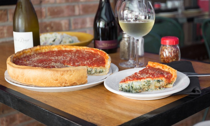 Bacino's of Lincoln Park - Lincoln Park: Pizza or Pasta Meal for Two with Appetizer and Drinks at Bacino's of Lincoln Park (Up to 36% Off)