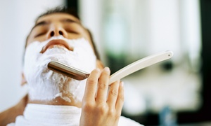 The Green Door Organic Salon Spa and Barber Studios: Men's Haircut or Sauna Packages The Green Door Organic Salon Spa and Barber Studios (Up to 68% Off)