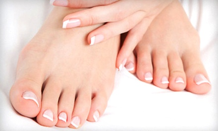 One or Two Mani-Pedis with Optional Shellac (Up to 52% Off)