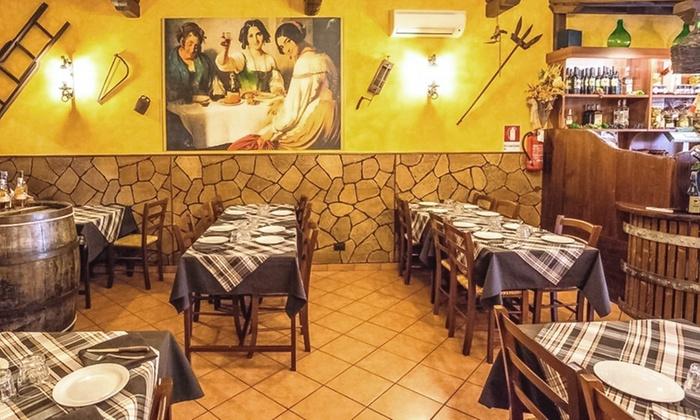 Menu osteria tipico con porchetta e vino osteria 39 o for Cibo tipico romano