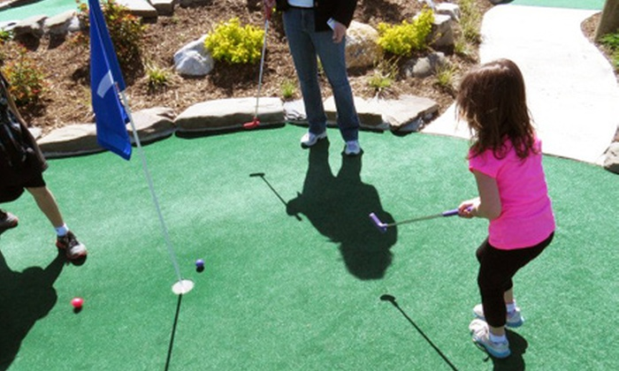 Sayville Falls Mini Golf, - Sayville Falls Miniature Golf: Round of Mini Golf for Two or Mini-Golf Season Pass for an Adult or Child at Sayville Falls Mini Golf (Up to 60% Off)
