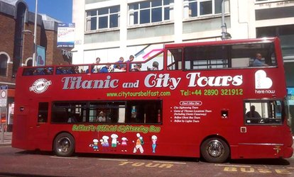 image for Belfast Open-Top Bus Sightseeing Tour with Hop On Hop Off City Tours