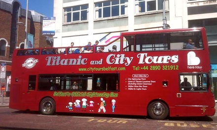 Belfast OpenTop Bus Sightseeing Tour Including High Street and Titanic Belfast, with Hop On Hop Off City Tours