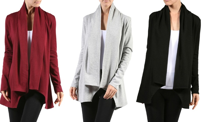 Women's Fleece Cardigan | Groupon Goods