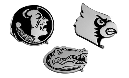 NCAA Molded Chrome Auto Emblem. Multiple Teams Available. Free Returns.